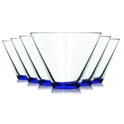 Martini Glasses with coloredアクセントLibbeyコバルトブルーStemless–13.5オンスセットの6-追加の鮮やかな色使用可能by Tabletop King
