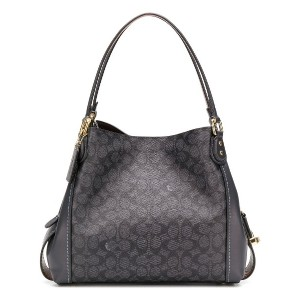 Coach COACH - Woman - COATED CANVAS SIGNATURE EDIE 31 - グレー