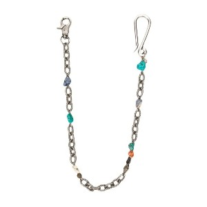Andrea D'amico chainlink and beads keyring - シルバー