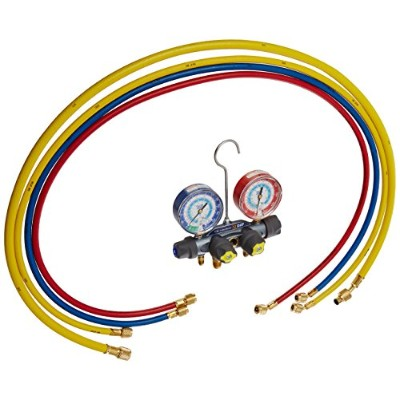 Yellow Jacket 49987 Titan 4-Valve Test and Charging Manifold degrees F, psi Scale, R-22/134A/404A...