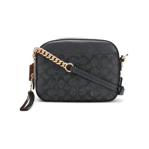 Coach COACH - Woman - COATED CANVAS SIGNATURE CAM BAG - ブルー