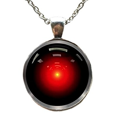 mainstreet2472001A Space Odyssey Hal 9000ガラスドームペンダントネックレス
