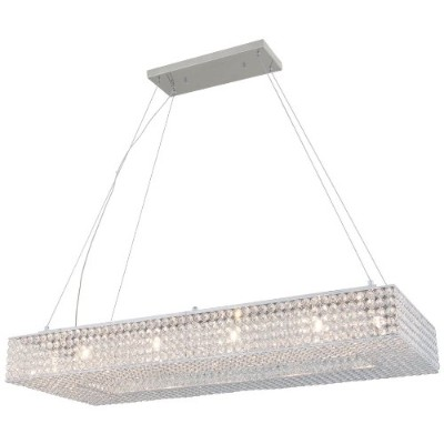 DVI Lighting DVP10702CH-CRY Pendant with Clear Crystals Shades, Chrome Finish by DVI