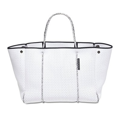 State of Escape ステイト オブ エスケープ ビーチ トートバッグ 大容量 マザーズバッグ (white with blended rope) [並行輸入品]