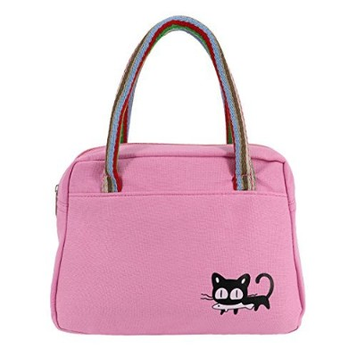 La moriposaポータブルInsulated LunchボックスLunchバッグピクニックバッグTotes Grocery Bags ピンク AX-AY-ABHI-102152