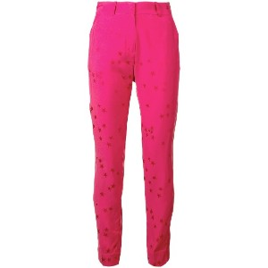 Equipment star print trousers - ピンク