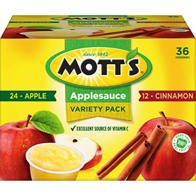 Mott's Original  Cinnamon Variety Pack Applesauce, 4 oz cups (Pack of 36) by Mott's 海外直送