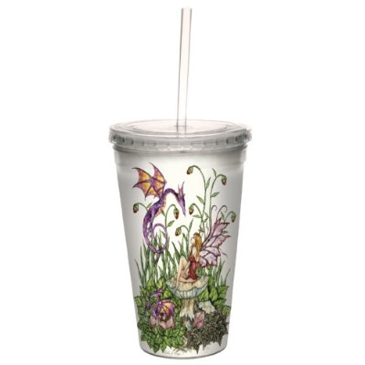 Tree-Free Greetings cc33541 Fantasy Birth of Magic Fairy and Dragon Double Walled Cool Cup with...