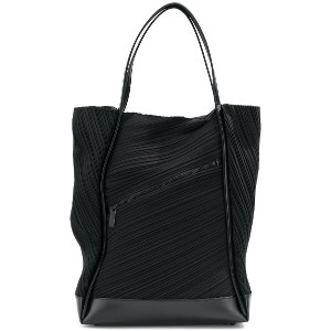 Pleats Please By Issey Miyake plissé tote - ブラック