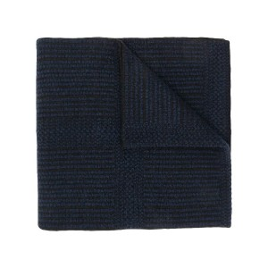 Pringle Of Scotland woven knitted scarf - ブラック