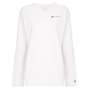 Champion logo embroidered top - ピンク