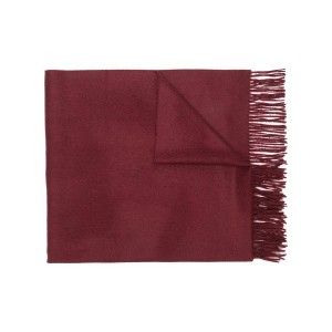 Pringle Of Scotland fringed knitted scarf - レッド