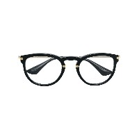 Prada Eyewear round shaped glasses - ブラック