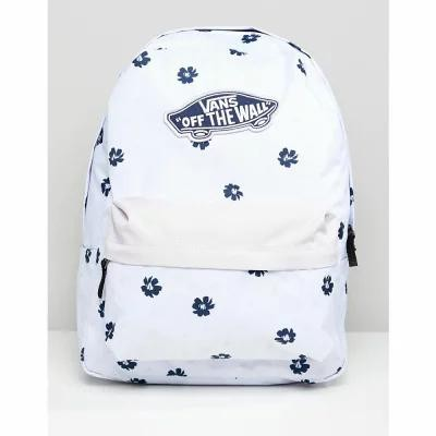 ヴァンズ Vans バックパック・リュック Lilac Floral Print Realm Backpack White abstract daisy