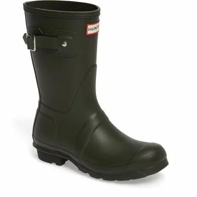 ハンター HUNTER レインシューズ・長靴 Original Short Rain Boot Dark Olive