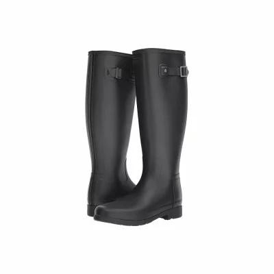 ハンター Hunter レインシューズ・長靴 Original Refined Wide Fit Rain Boot Matte Black