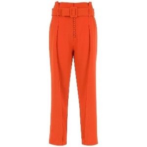 Framed tapered trousers - レッド