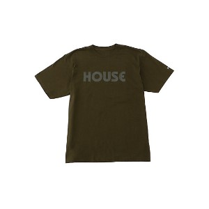 IN THE HOUSE  HOUSE TEE カーキ 【三越・伊勢丹/公式】 メンズウエア~~Tシャツ