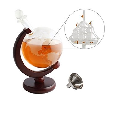 Spirits Decanters Nexテつョ Liquor Decanter Whiskey Decanter for Spirits or Wine Globe Glasses and...