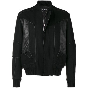 Les Hommes perforated panels bomber jacket - ブラック