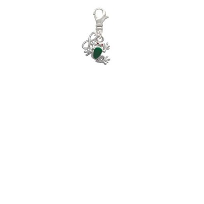Mini Green Tree Frog Mini infinityクリップonチャーム