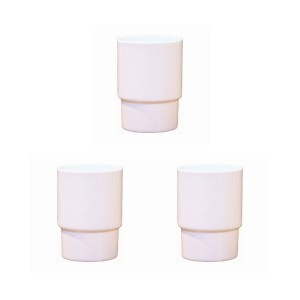En Fance Glass cup egg shell(エッグシェル)3個セット○EFIN01PK ピンク グラス