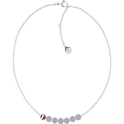 [女性用イヤリング]Tommy Hilfiger Women Stainless Steel Pendant Necklace - 2700982[並行輸入品]