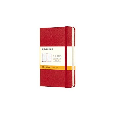 Moleskine Classic Notebook, Pocket, Ruled, Red, Hard Cover (3.5 x 5.5) (Classic Notebooks)