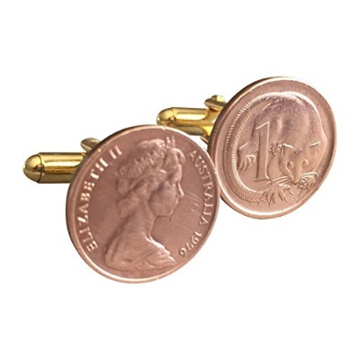 Ammoギフトボックスオーストラリア1cent feather-tailedグライダーCoin Cufflinks