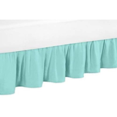 Solid Turquoise Queen Bed Skirt for Girls Skylar Bedding Sets