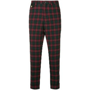 Education From Youngmachines check cropped trousers - レッド