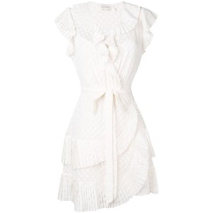Zimmermann Plisse mini wrap dress - ニュートラル