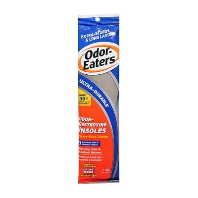 Odor-Eaters Ultra Durable, Heavy Duty Cushioning Insoles, 1 pair by Odor-Eaters
