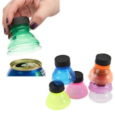 2 Pack Soda Can Savers Reusable Pop Drink Covers Lid Protector Spill Free Bottle
