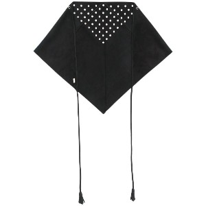 Saint Laurent eyelet triangular scarf - ブラック