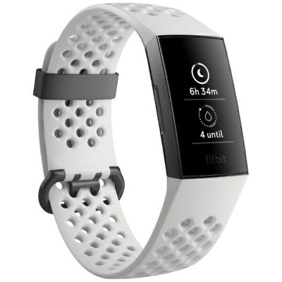 【送料無料】 FITBIT フィットネストラッカー fitbit charge 3 Special Edition White Sports Band/Graphite Aluminium L...