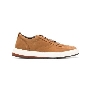 Corneliani leather lace-up sneakers - ブラウン