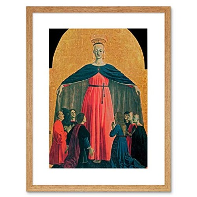 Piero Della Francesca The Madonna Of Mercy Old Master Framed Wall Art Print フランスオールドマスター壁
