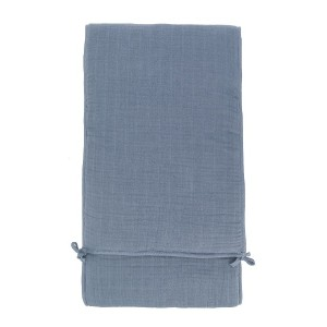 Moumout baby bed bumper blanket - ブルー