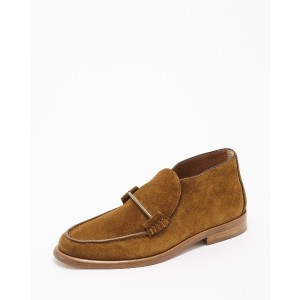 Ray BEAMS(Ray) LT BROWN ALUMNAEsueLF/BTY LEATHER SHOES○61320224657 26 フラットシューズ