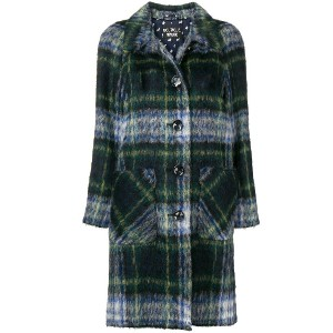 Boutique Moschino tartan coat - グリーン