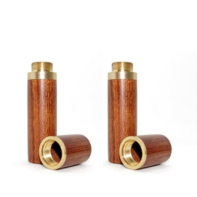 (Two Light Brown) - Vecent Portable Wood Toothpick Holder Mini Toothpick box Pocket Toothpick...