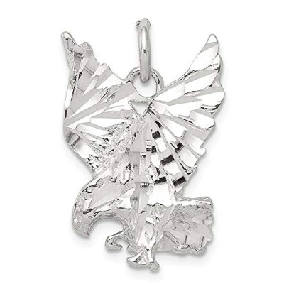Beautiful Sterling silver 925 sterling Sterling Silver Eagle Charm comes with a Free Jewelry Gift