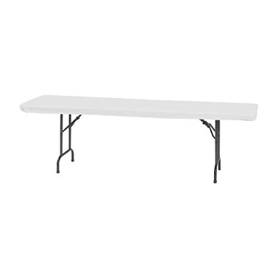 Creative Converting Plastic Stay Put Banquet Table Cover, 80cm by 240cm, White