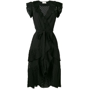 Zimmermann Plisse wrap dress - ブラック