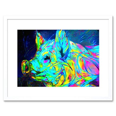 Abstract Electric pig Framed Wall Art Print 抽象電気の壁