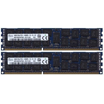 Apple 32 GB 2 X 16gb ddr3 – 1866 pc3 – 14900 ECC RDIMM Apple MacPro 2013モデルメモリアップグレードキット。By Gigaram