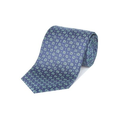 チェスター バリー Chester Barrie メンズ ネクタイ【Rushmore Navy Silk Tie With Flowers】navy