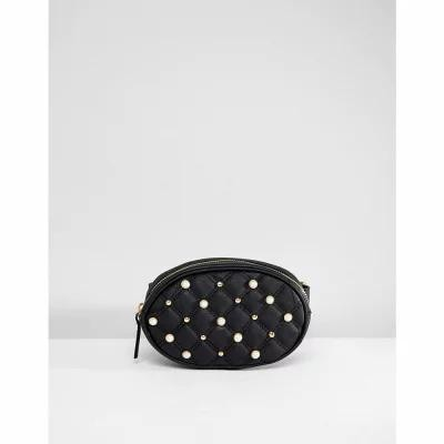 オーマイゴッシュ Oh My Gosh Accessories ボディバッグ・ウエストポーチ Faux Pearl Studded Detail Bum Bag Black