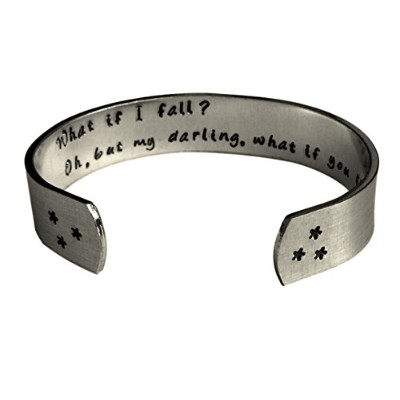 What If I FallがOh My Darling What If You Fly Encouragement CuffインスピレーションジュエリーカフブレスレットI